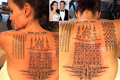 Angelina Jolie Got Painful Protection Symbolic Tattoos By A Thai