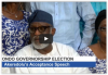 Ondo Election: Akeredolu's acceptance speech